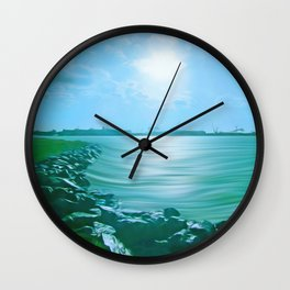 Marine Lake Wall Clock