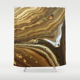 Swashes of gold and fire Shower Curtain