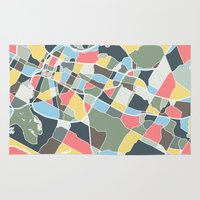 austin Area & Throw Rugs featuring Austin Texas. by Studio Tesouro