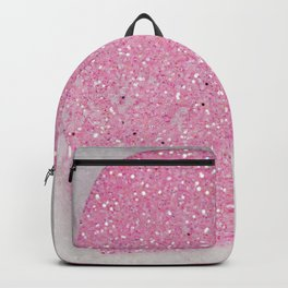 Pink Snow heart Backpack
