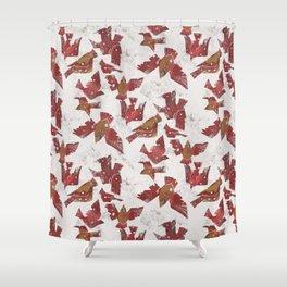 Snowy Cardinals Shower Curtain