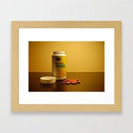 Still life with medication Framed Art Print