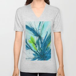 Organic Ecstasy No. 48c by Kathy Morton Stanion Unisex V-Neck