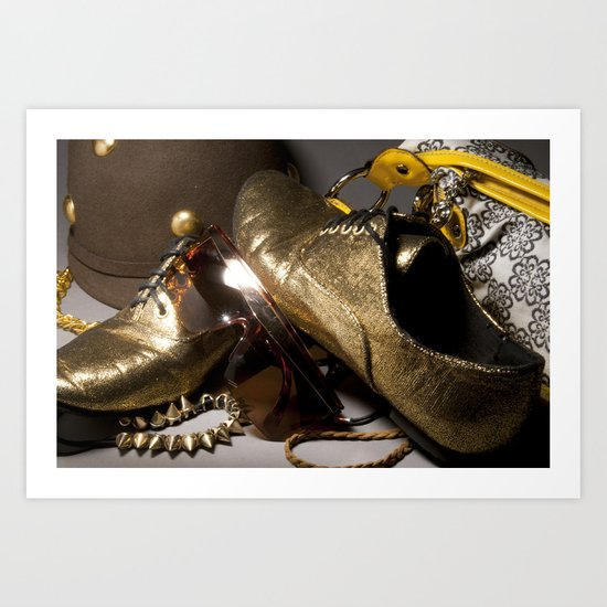 Shoe ad composition 1 Art Print