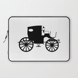 Old Carriage Silhouette Laptop Sleeve
