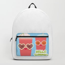 Hello Summer Kawaii cherry smoothie Backpack