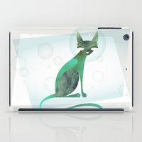 mid century modern iPad Cases featuring Mid-Century Feline by a. peterson