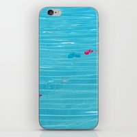 pool iPhone & iPod Skins featuring Pool by AlexinaRose
