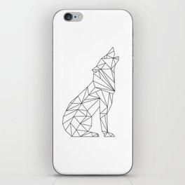 Geometric Wolf iPhone Skin