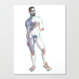 COLBY, Nude Male by Frank-Joseph Canvas Print