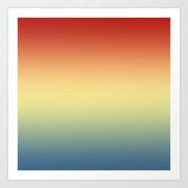 Aega - Colorful Classic Abstract Minimal Retro 70s Color Gradient Art Print