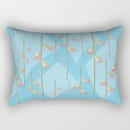 Mid Century Illumination - Gold Blue and Pink Palette Rectangular Pillow