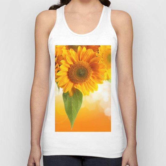 Nice Sunflowers Unisex Tank Top