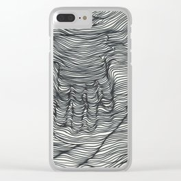 seismic waves Clear iPhone Case