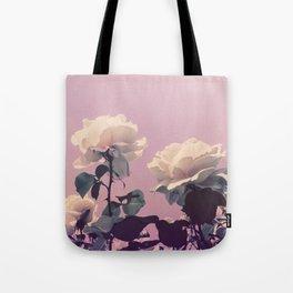 Vintage Spring Pearl White Roses Lavender Sky Tote Bag
