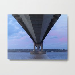 Beneath the Humber Bridge Metal Print