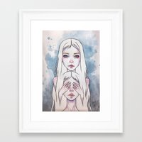 twins Framed Art Prints featuring Twins by Black Fury