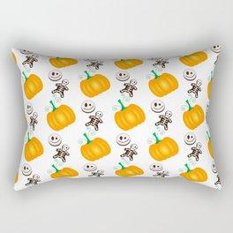 Orange pumpkins vector pattern for Halloween Rectangular Pillow