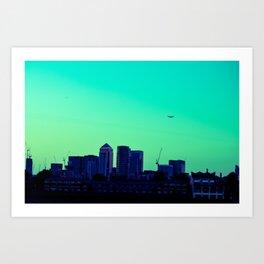 View towards Canary Wharf Art Print