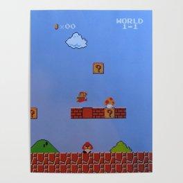 Mario Likes A Mushroom Poster