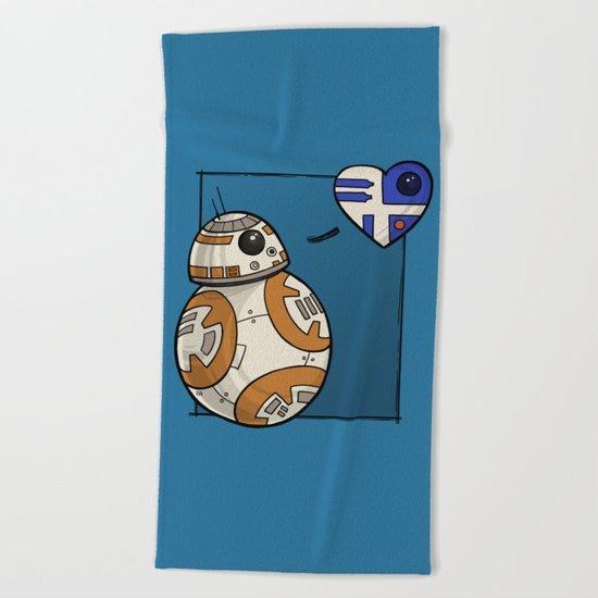 Droid Love Beach Towel