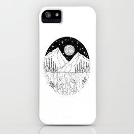 Mountainous Woodland Waterfall Scene iPhone Case