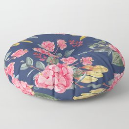 Hydrangea Blue Floor Pillow