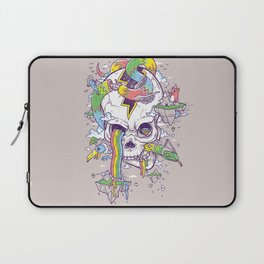 Flying Rainbow skull Island Laptop Sleeve