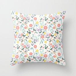 Morning Snowdrop Throw Pillow