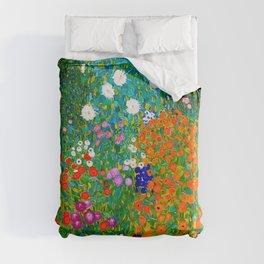 Gustav Klimt - Flower Garden Duvet Cover