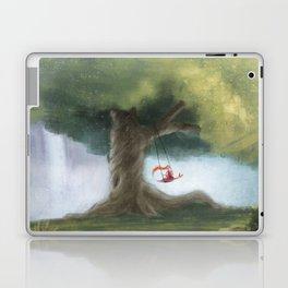 Swinging under a big tree Laptop & iPad Skin