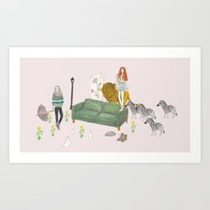 LIVING ROOM Art Print