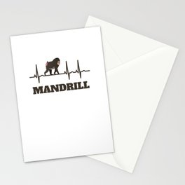 Gift For Mandrill Lover Fan Stationery Cards