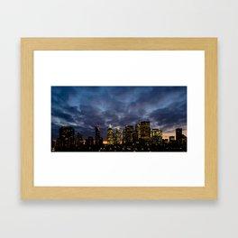 Skyline Cloudy Sunset Framed Art Print