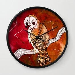 Valentine Owl Wall Clock