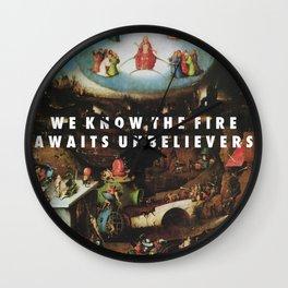 Unbelievers Wall Clock