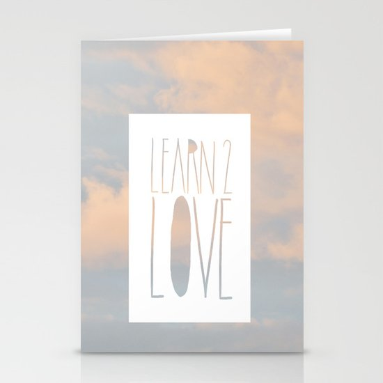 LEARN 2 LOVE Stationery Cards