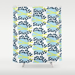 Leila - Abstract pattern, textile design  Shower Curtain