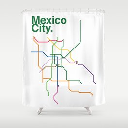 Mexico City Transit Map Shower Curtain