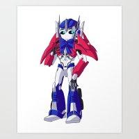 optimus prime Art Prints featuring Optimus Prime by Crow