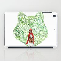 red riding hood iPad Cases featuring Red Riding Hood by Stephane Lauzon