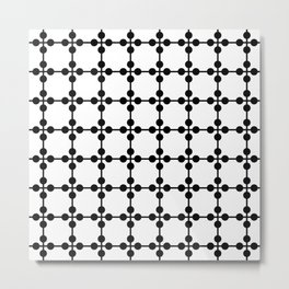 Droplets Pattern - White & Black Metal Print