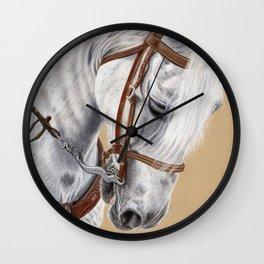 Horse Portrait 01 Wall Clock