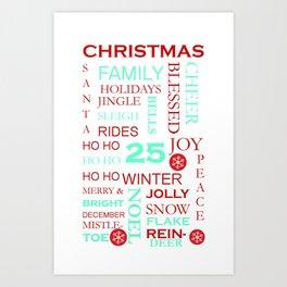 Christmas Subway Art 1.0 Art Print