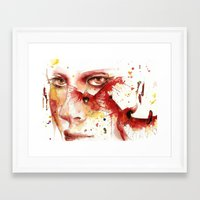 cardinal Framed Art Prints featuring Cardinal  by Chelsea Brouillette