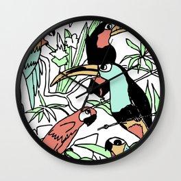 Exotic Birds Wall Clock
