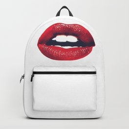 Red lips illustration - Woman lips sexy - Feminist Art Backpack