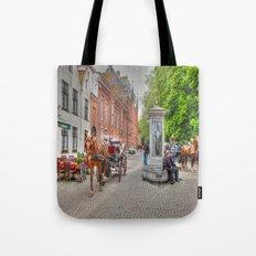 Horse & Cart in Brugge  Tote Bag