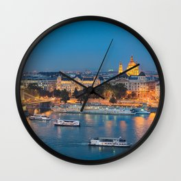 Blue hour on Danube Wall Clock