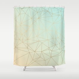 Pastel Geometric Minimalist Pattern Shower Curtain